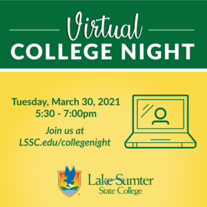 Join us Virtual College Night on March 30 at 5:30pm