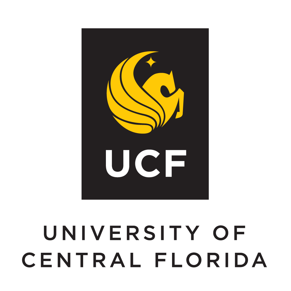 Black UCF logo with gold pegasus