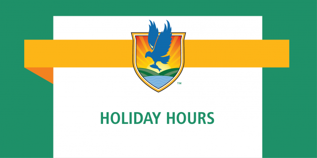 LSSC logo banner with text reading Holiday Hours